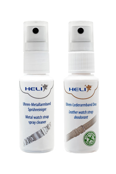 HELI Professional Watch Strap and Watch Bracelet Cleaner Duo Kit (Spray Bottles)
