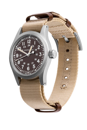 HAMILTON H69429901 Khaki Field Mechanical 38mm Watch - Brown Khaki Dial
