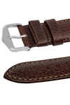 Hirsch FOREST Calf Leather Watch Strap in BROWN