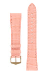 Hirsch London Genuine Matt Alligator Leather Watch Strap in Rosa (with Polished Rose Gold Steel H-Tradition Buckle)