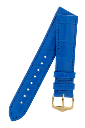 Load image into Gallery viewer, Hirsch London Genuine Matt Alligator Leather Watch Strap in Royal Blue