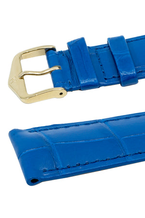 Load image into Gallery viewer, Hirsch London Genuine Matt Alligator Leather Watch Strap in Royal Blue (Keepers)