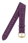 Hirsch LONDON Matt Alligator Leather Watch Strap in VIOLET