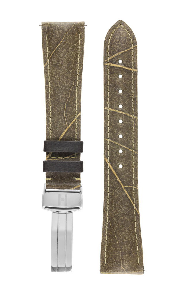 Hirsch WINE Vineyard-Leaf Vegan Watch Strap in GREEN