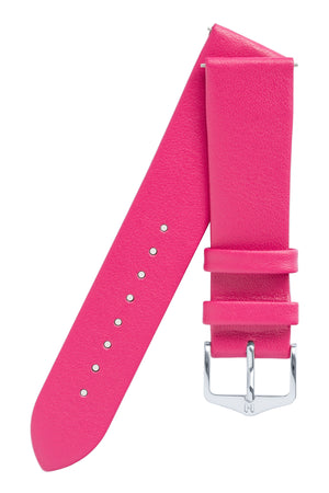 Hirsch VIAZZA Ladies Leather Quick-Release Watch Strap in PINK