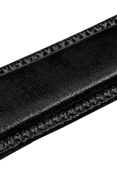 Hirsch Ascot English Leather Watch Strap in Black (Texture Detail)