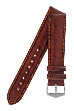 Hirsch Ascot English Leather Watch Strap in Gold Brown