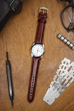 Hirsch Ascot English Leather Watch Strap in Gold Brown (Promo Photo)