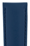 Hirsch Corse Calfskin Leather Watch Strap in Blue (Texture Detail)