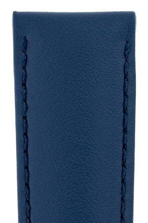 Load image into Gallery viewer, Hirsch Corse Calfskin Leather Watch Strap in Blue (Texture Detail)