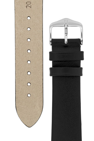 Hirsch DIAMOND CALF Leather Watch Strap in BLACK
