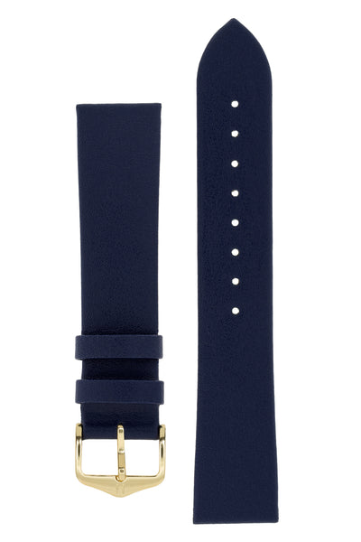 Hirsch DIAMOND CALF Leather Watch Strap in BLUE