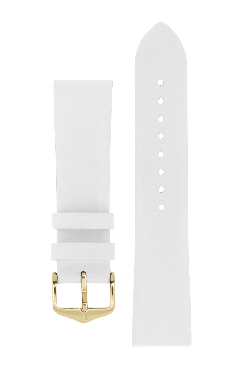Hirsch DIAMOND CALF Leather Watch Strap in WHITE