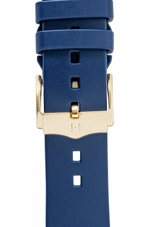 Hirsch H-Catwalk Polished Stainless Steel Buckle in Gold-Tone (Example on Leather Watch Strap)