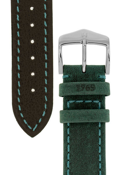 Hirsch HERITAGE Natural Calfskin Leather Watch Strap in TEAL