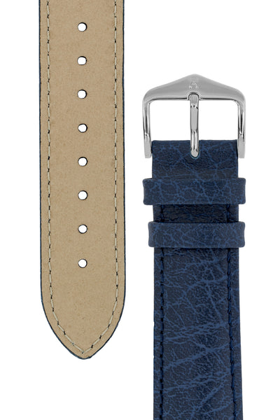 Hirsch HIGHLAND Calf Leather Watch Strap in BLUE