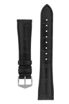 Hirsch IAN Louisiana Alligator Hide Performance Watch Strap in BLACK