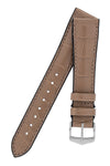 Hirsch IAN Louisiana Alligator Hide Performance Watch Strap in WARM GREY
