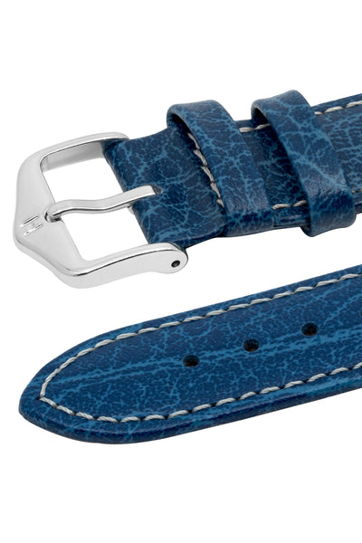 Hirsch JUMPER Calf Leather Watch Strap in BLUE