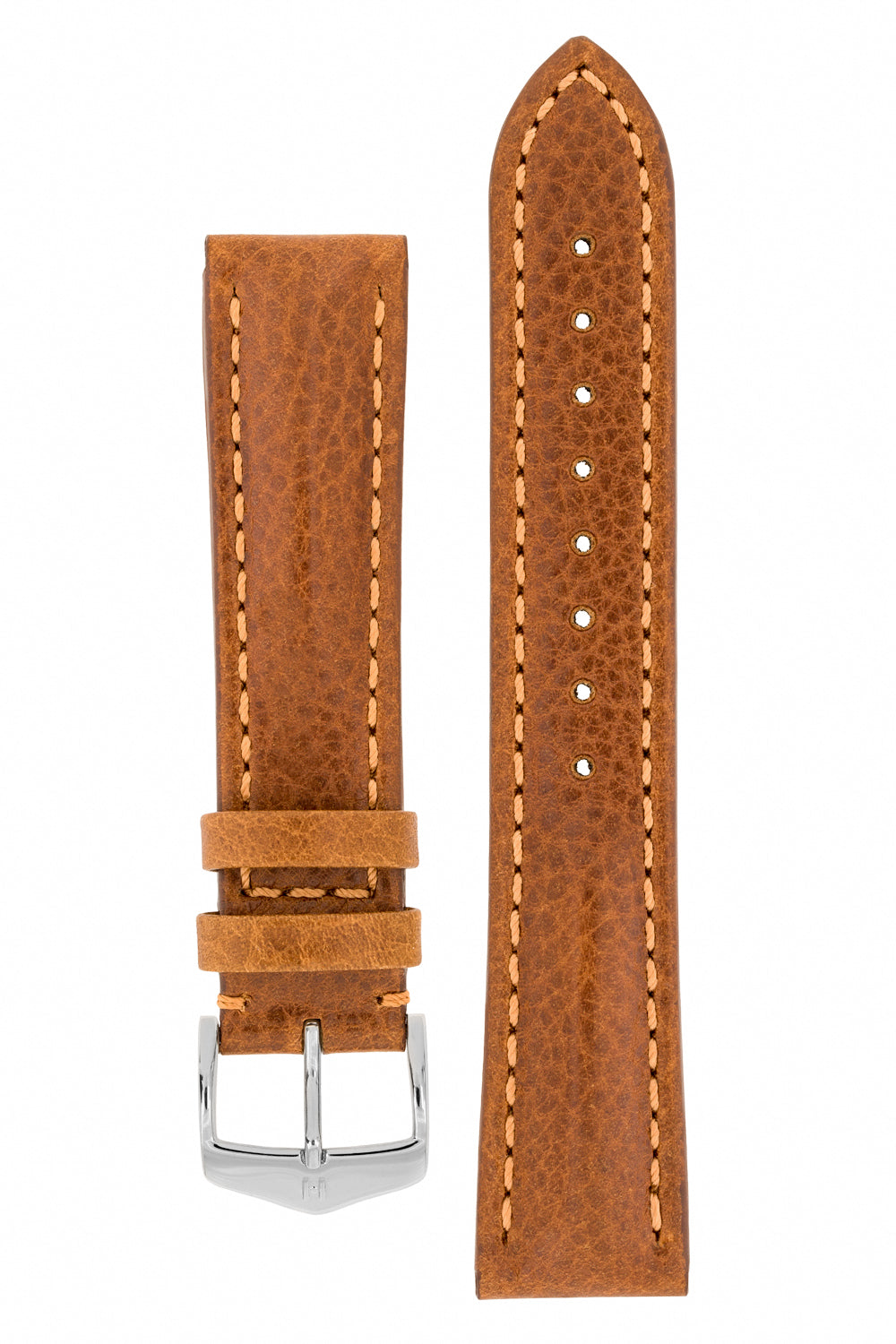 Hirsch LUCCA Tuscan Leather Watch Strap in GOLD BROWN