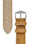 Hirsch Massai Genuine Ostrich Leather Watch Strap in Honey Brown with Matching Stitch (Underside & Tapers)
