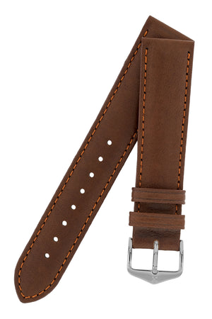 Load image into Gallery viewer, Hirsch Merino Nappa Sheepskin Leather Watch Strap in Gold Brown