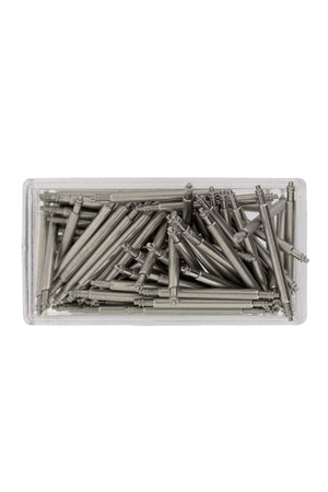 Plastic Box of 100 Watch Spring Bars by Hirsch (Contents)
