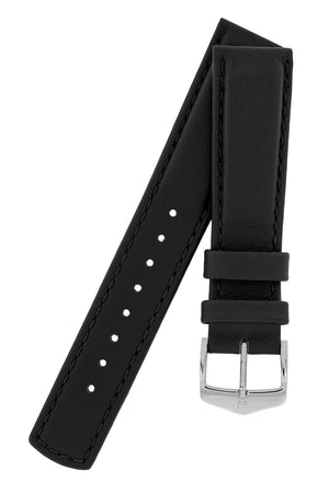 Load image into Gallery viewer, Hirsch Rrunner Water-Resistant Calf Leather Watch Strap in Black