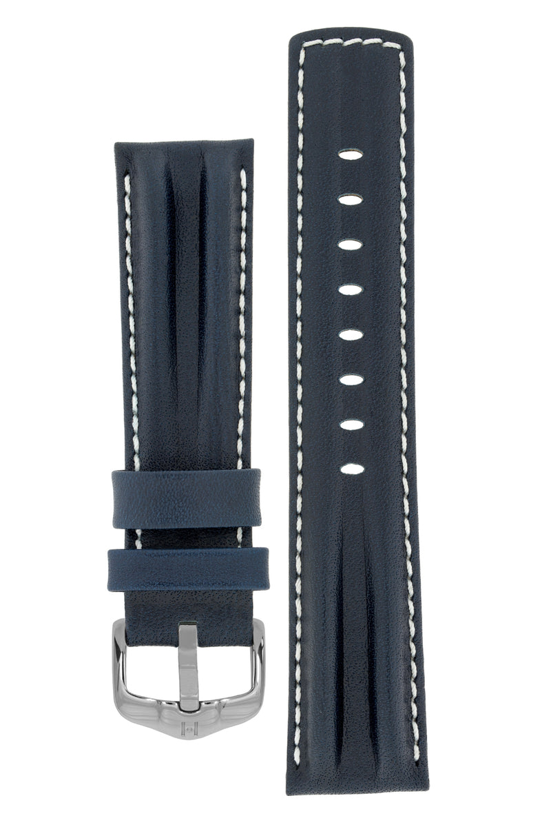 Hirsch PROFESSIONAL Calf Leather Watch Strap in BLUE