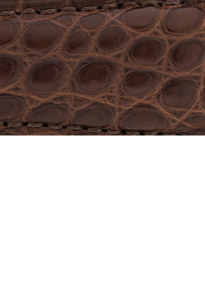 Load image into Gallery viewer, Hirsch Regent Genuine Alligator Leather Watch Strap in Brown (Close-Up Texture Detail)