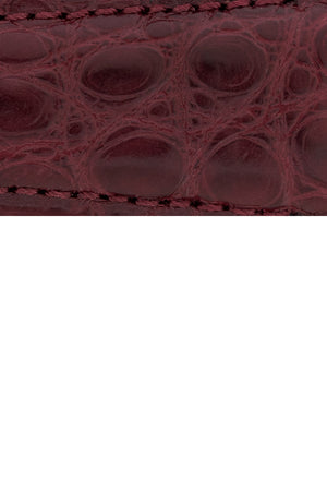 Load image into Gallery viewer, Hirsch Regent Genuine Alligator Leather Watch Strap in Burgundy (Close-Up Texture Detail)