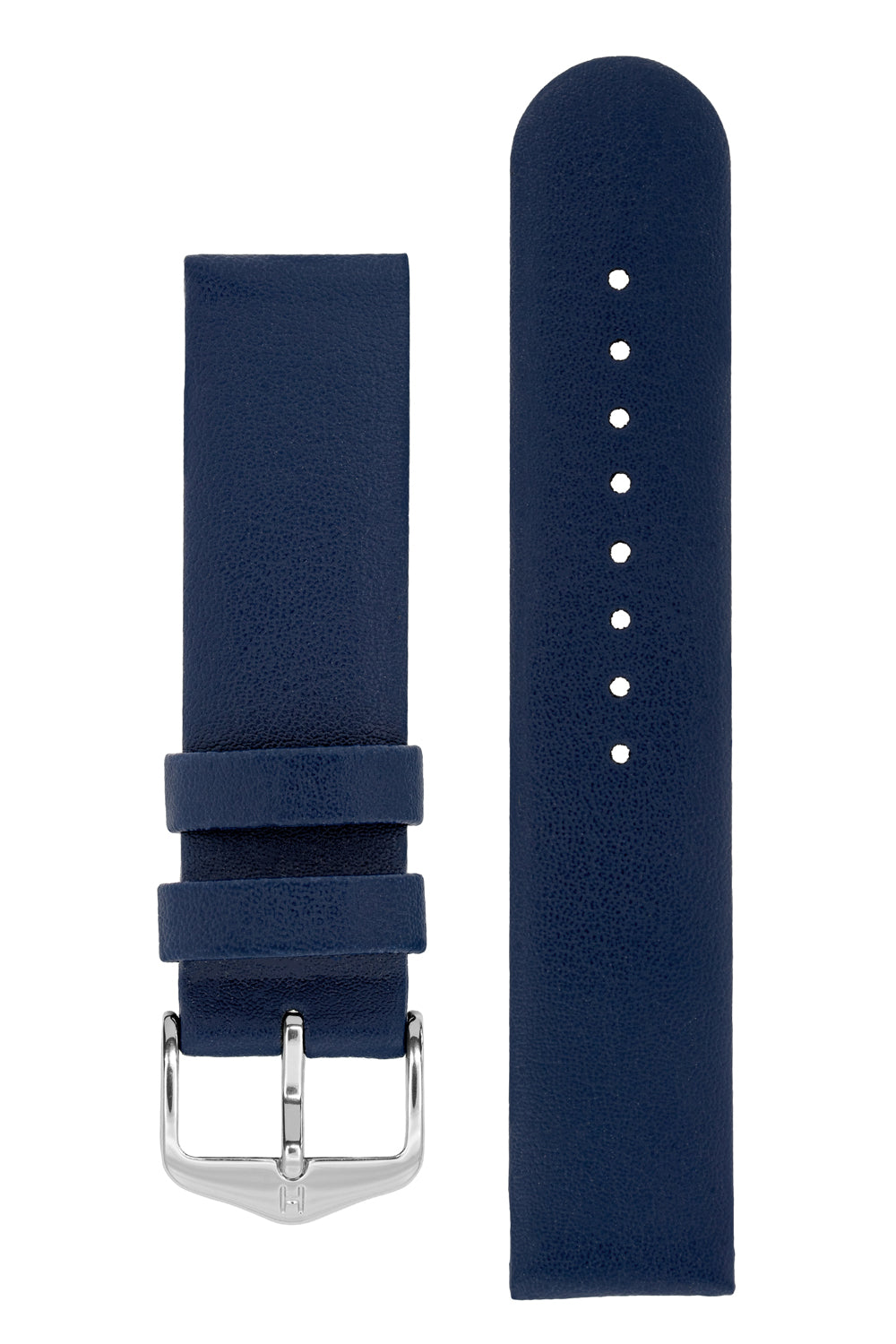 Hirsch SCANDIC Calf Leather Watch Strap in BLUE