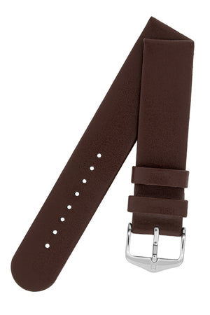 Hirsch Scandic Low-Profile Calf Leather Watch Strap in Brown