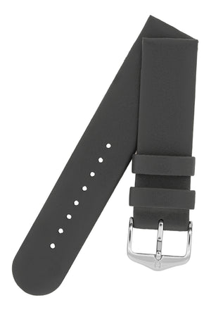 Hirsch SCANDIC Calf Leather Watch Strap in GREY
