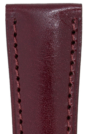 Hirsch SIENA Tuscan Leather Watch Strap in BURGUNDY