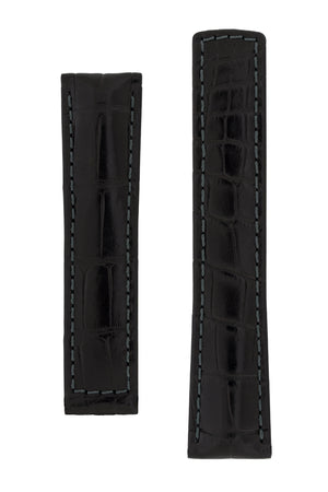 Hirsch SPEED Alligator Deployment Watch Strap in BLACK