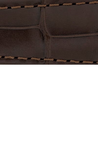 Hirsch SPEED Alligator Deployment Watch Strap in DARK BROWN