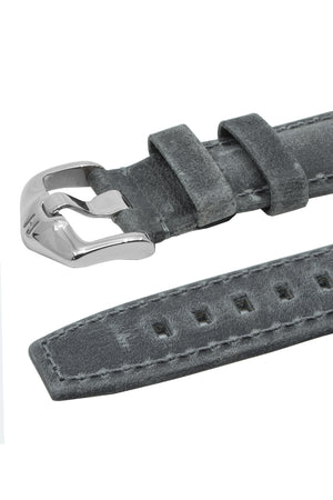 Load image into Gallery viewer, Hirsch Tritone Kudu Antelope Leather Watch Strap in Dark Grey (Keepers & Padding)