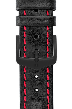 Hirsch H-Classic (HCB) Stainless Steel Buckle with Black PVD Coating (Example on Strap)
