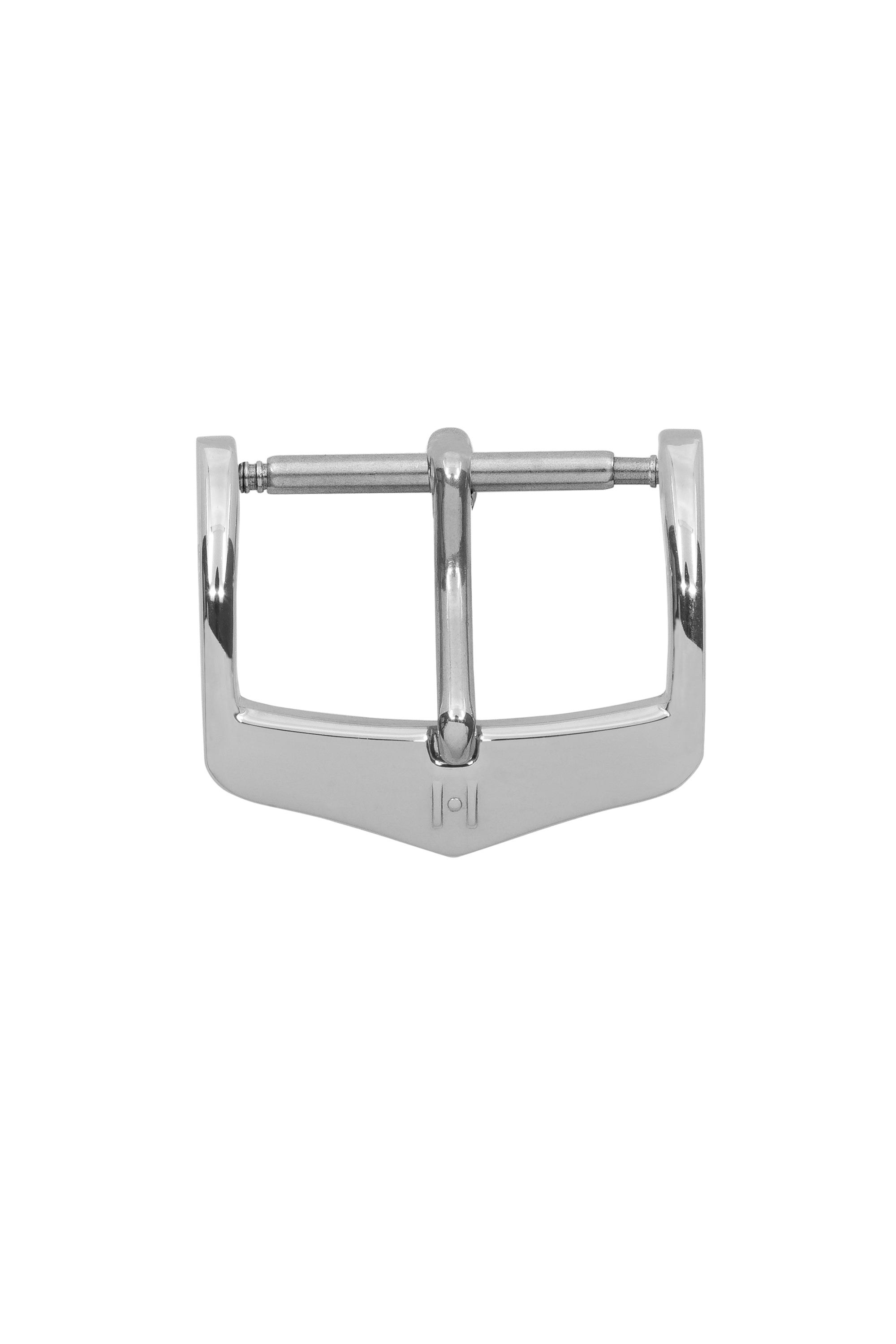 Hirsch H-Classic (HCB) Polished Stainless Steel Buckle in Silver-Tone