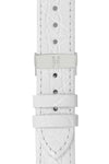 Hirsch GENUINE CROCO Shiny Crocodile Leather Watch Strap in WHITE