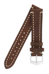 Hirsch LIBERTY Leather Watch Strap in BROWN