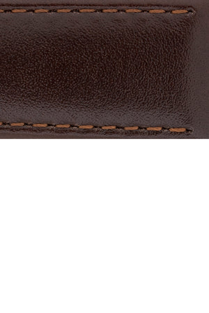 Load image into Gallery viewer, Hirsch Osiris Fine-Grained Calfskin Leather Watch Strap in Brown (Close-Up Texture Detail)