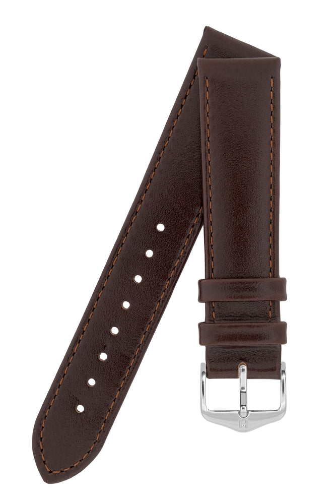 Load image into Gallery viewer, Hirsch Osiris Fine-Grained Calfskin Leather Watch Strap in Brown