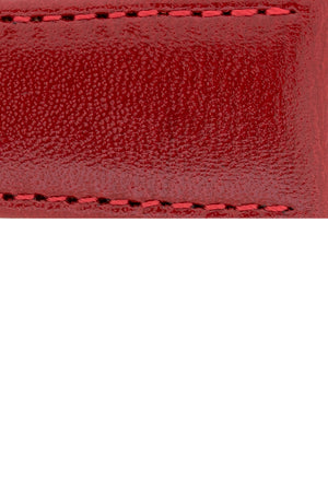 Hirsch Osiris Fine-Grained Calfskin Leather Watch Strap in Red (Close-Up Texture Detail)