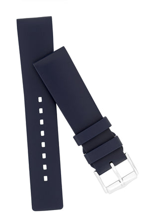 Hirsch Pure Natural Caoutchouc Rubber Diving Watch Strap in Blue