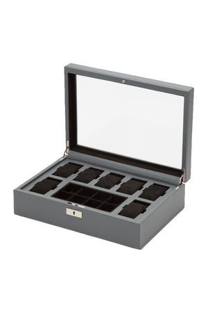 Load image into Gallery viewer, WOLF HOWARD Watch Box – Grey