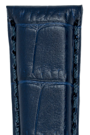 IWC-Style Alligator Embossed Leather Watch Strap in BLUE
