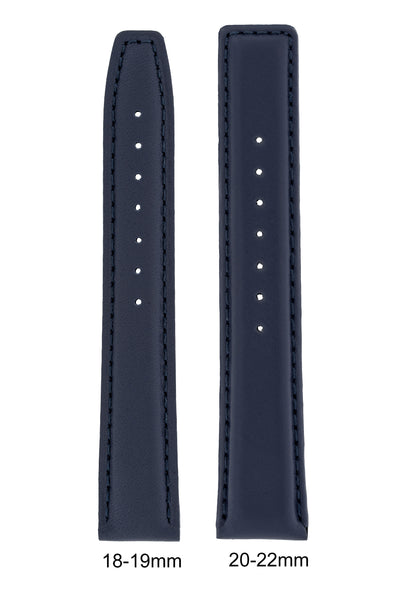 IWC-Style Calf Leather Watch Strap in BLUE