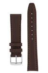 IWC-Style Calf Leather Watch Strap in DARK BROWN